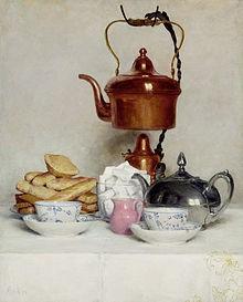 Albrecht Samuel Anker (1831 –1910), Swiss Breakfast, Private Collection
