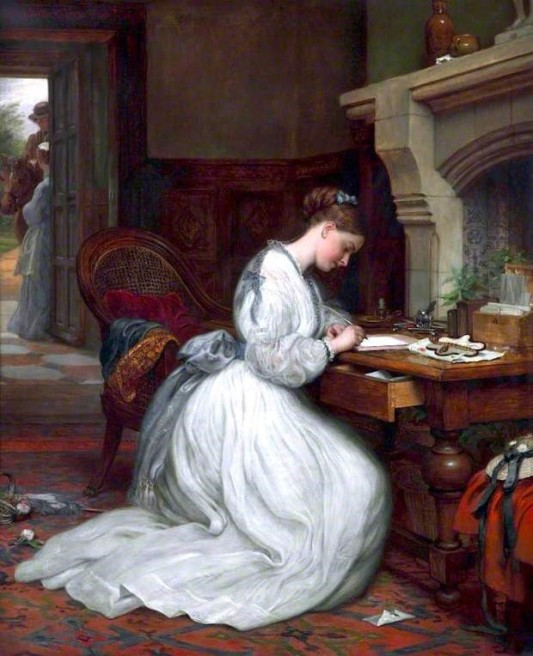 Charles West Cope (1811–1890) Writing a letter (1872)