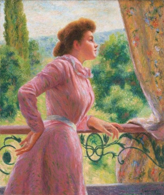 Federico Zandomeneghi (1841-1917) On the veranda