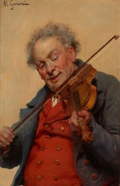 Michele Garinei (1871-1960) The violinist (1902)