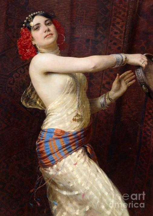 Otto Pilny (1866-1936) A damascus dancer (1909)