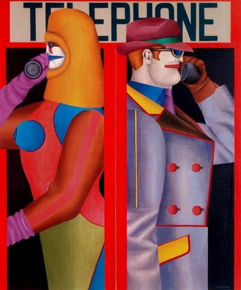 Richard Lindner (1901-1978) Telephone (1966)